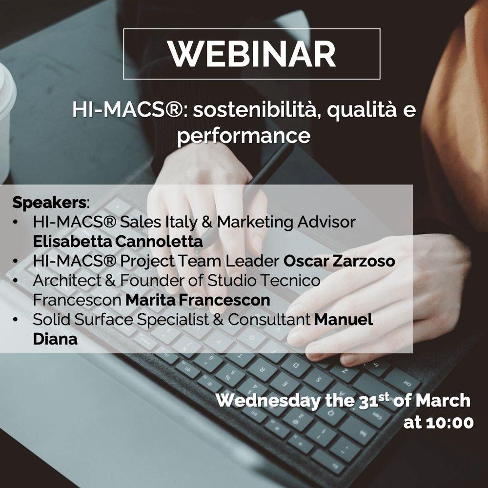 Webinar HI MACS